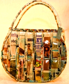 Celina Recycled Newspaper Handbag