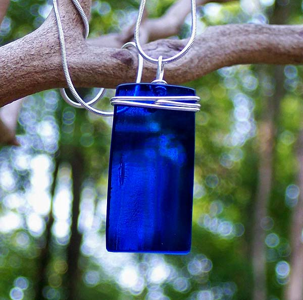 Cobalt Rectangle Pendant