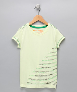 Lime Cream 'GREEN' Organic Tee - Girls