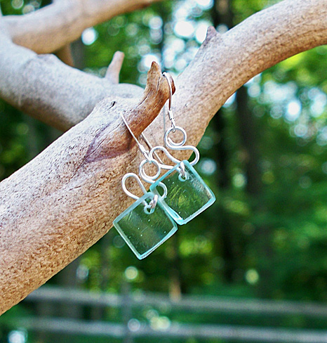 Mason Jar Ribbon Earrings