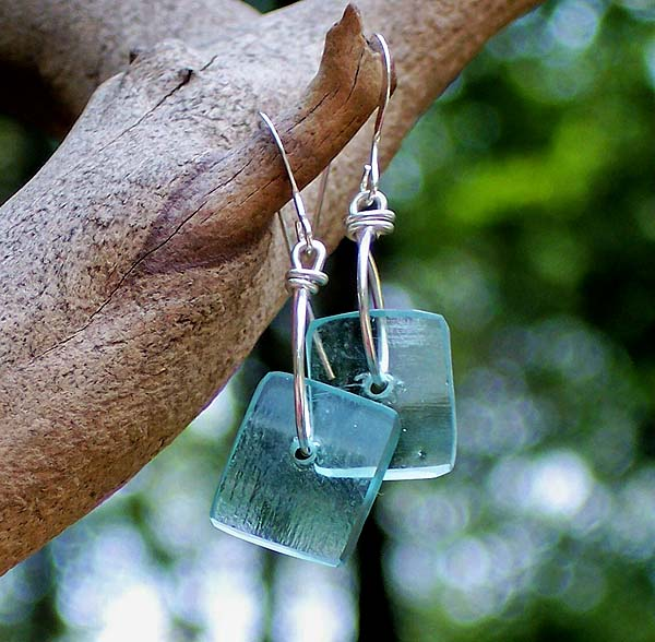 Mason Jar Square Earrings