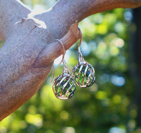 Olive Cage Earrings