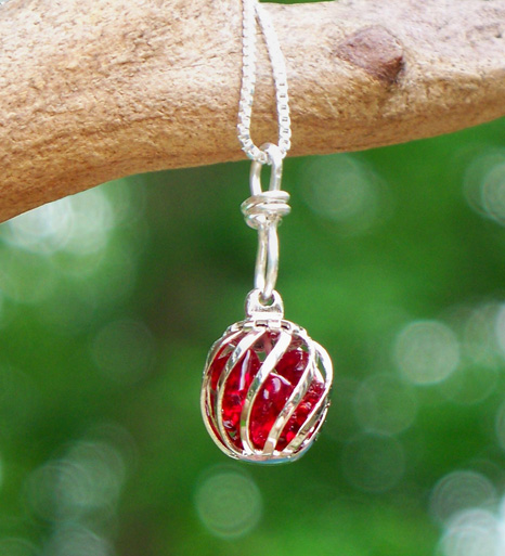 Ruby Cage Necklace