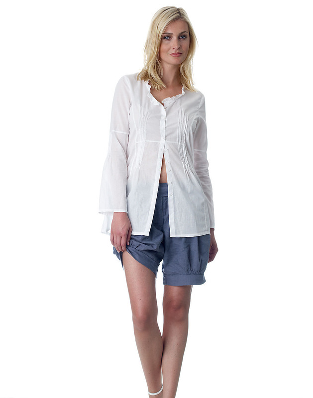 Organic Cotton Pleated Blouse