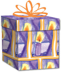 100% Recycled Wrapping Paper - Candle