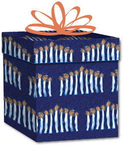 100% Recycled Wrapping Paper - Menorah