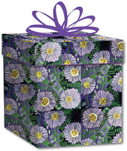 100% Recycled Wrapping Paper - Purple Flowers