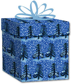 100% Recycled Wrapping Paper - Winter Trees