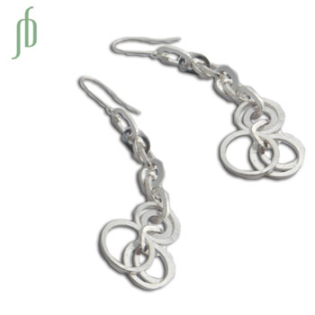 """Connections"": Linked Circle Earrings"
