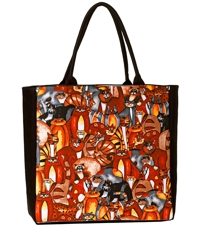 Large Tote by Artist Jennifer Garant (Cats)