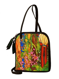 Cross Body Bag, Le Jardin by Artist Joanna Gregores