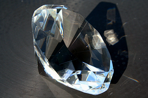 Diamond Paperweight by Steven Depolo